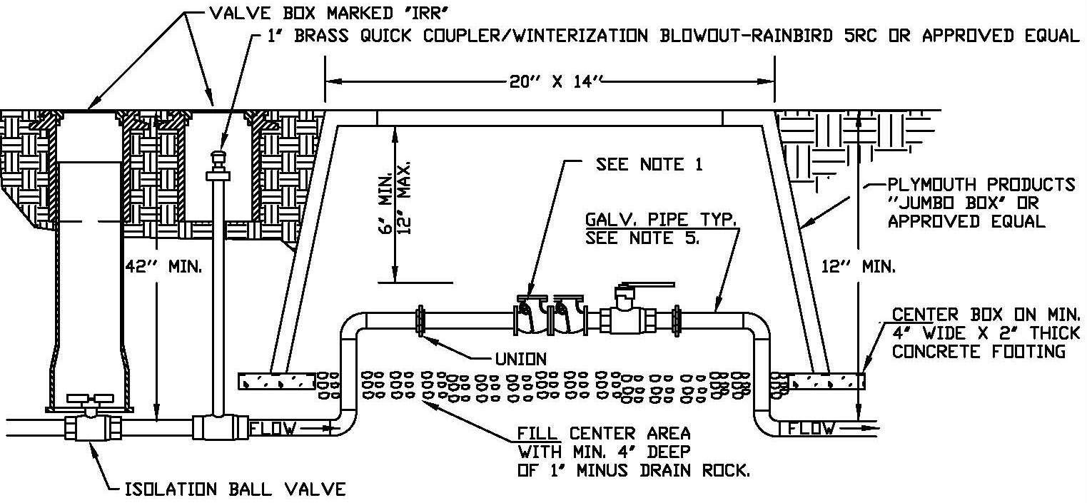 Double Valve Check Assembly Installation Diagram
